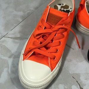 Orange Women Converse
